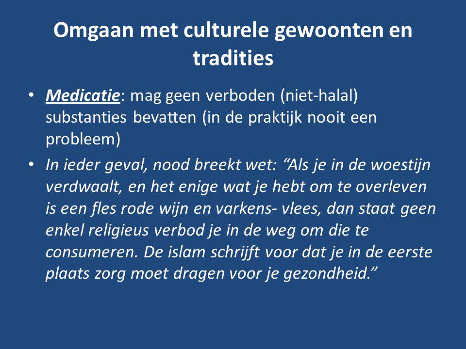 Omgaan met culturele gewoonten en tradities