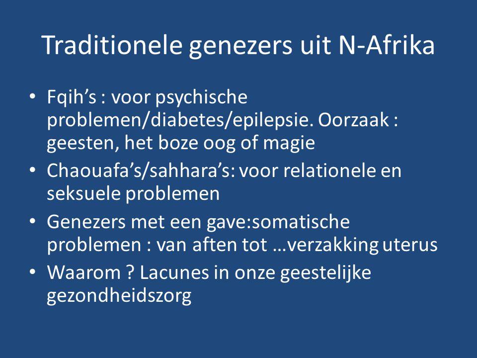 Traditionele genezers uit N-Afrika