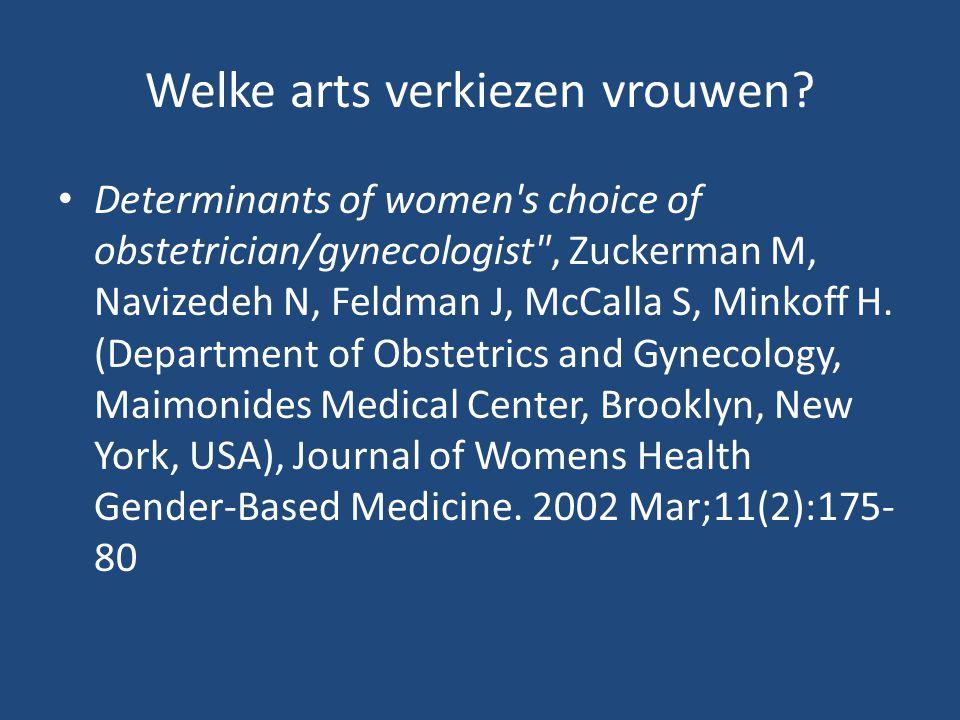 Welke arts verkiezen vrouwen