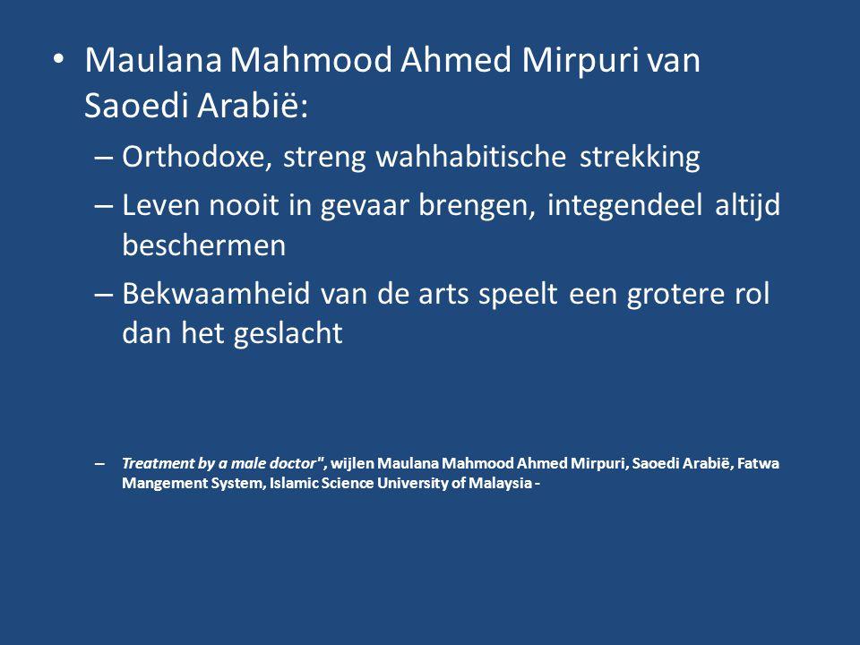 Maulana Mahmood Ahmed Mirpuri van Saoedi Arabië: