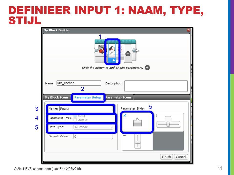 DefinIeER Input 1: NAAM, Type, STIJL