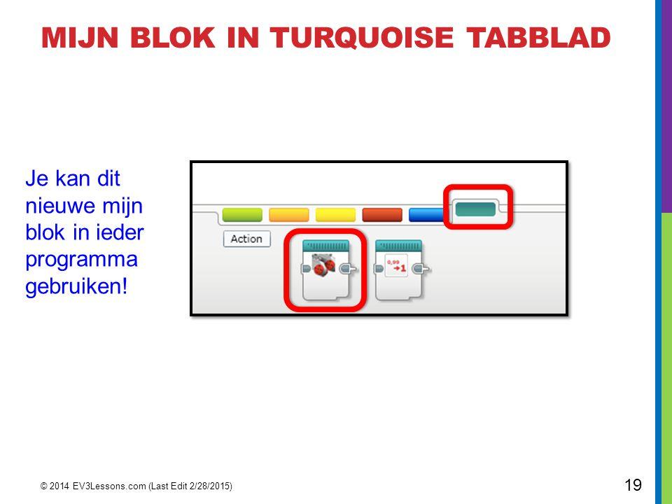 MIJN Blok in Turquoise TabBLAD