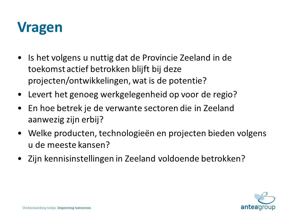 Vragen Is het volgens u nuttig dat de Provincie Zeeland in de toekomst actief betrokken blijft bij deze projecten/ontwikkelingen, wat is de potentie