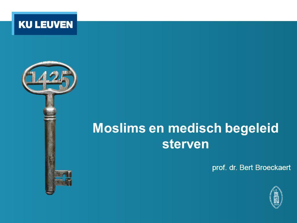 Moslims en medisch begeleid sterven