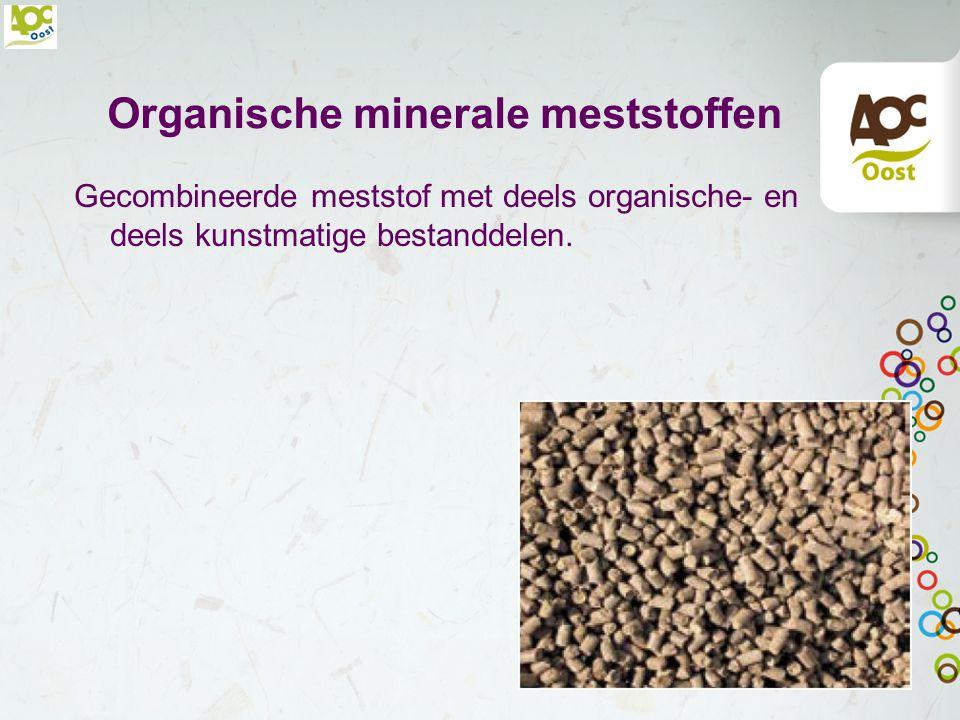 Organische minerale meststoffen