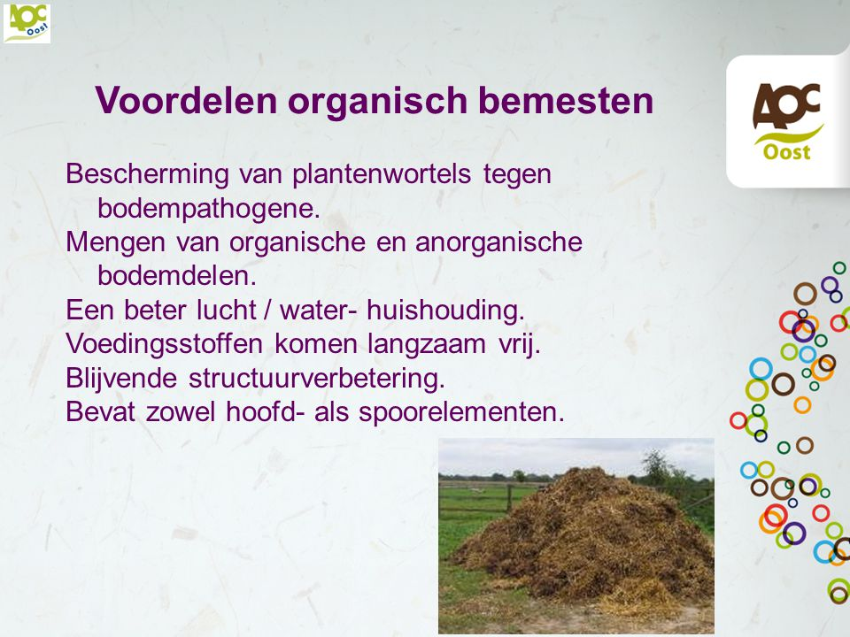 Voordelen organisch bemesten