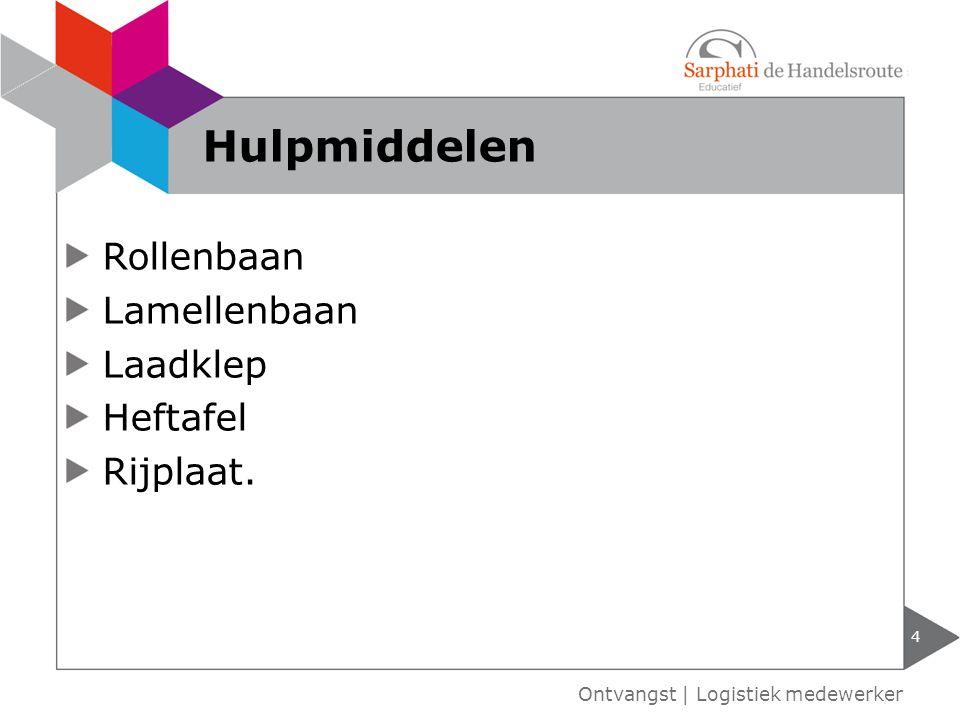 Hulpmiddelen Rollenbaan Lamellenbaan Laadklep Heftafel Rijplaat.