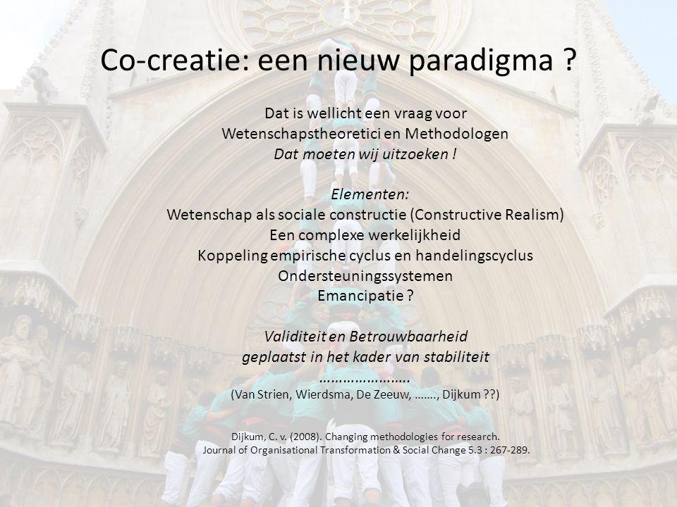 Co-creatie: een nieuw paradigma