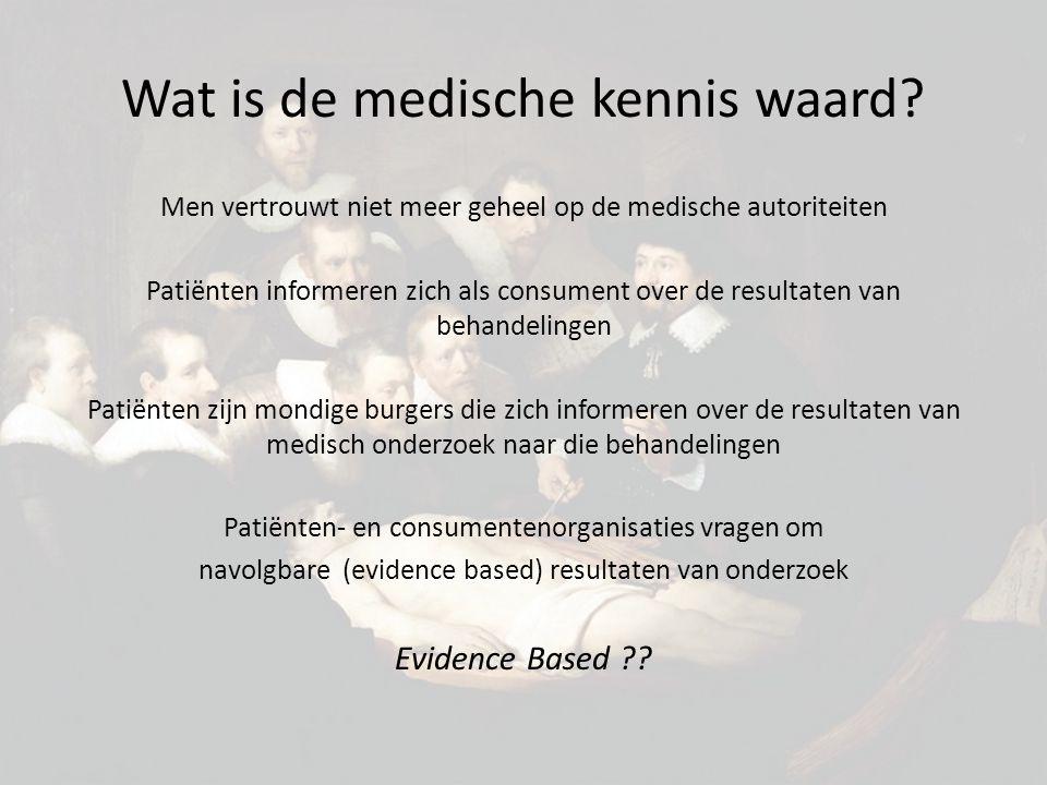 Wat is de medische kennis waard