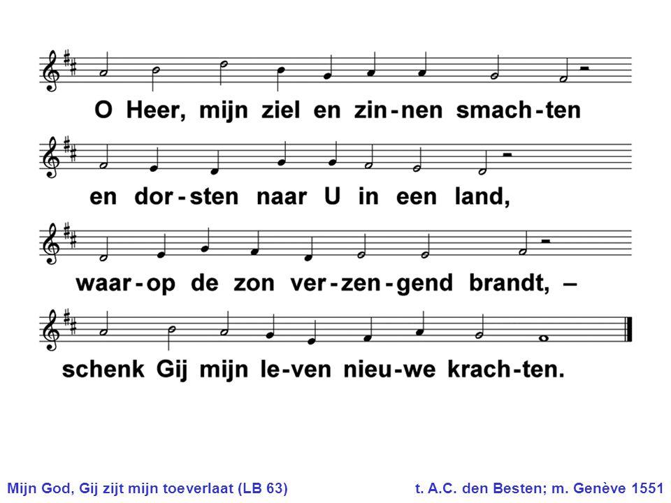 Mijn God, Gij zijt mijn toeverlaat (LB 63). t. A. C. den Besten; m