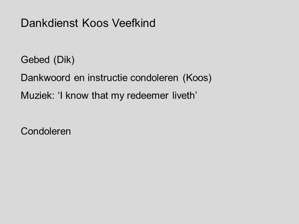 Dankdienst Koos Veefkind