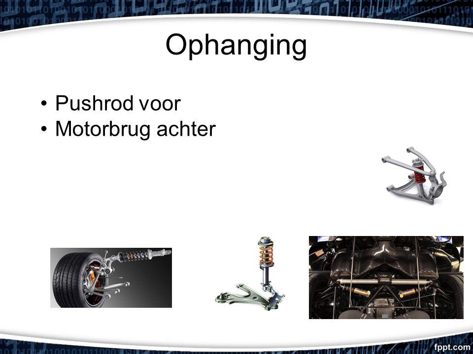 Ophanging Pushrod voor Motorbrug achter