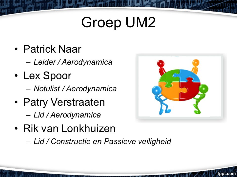Groep UM2 Patrick Naar Lex Spoor Patry Verstraaten Rik van Lonkhuizen