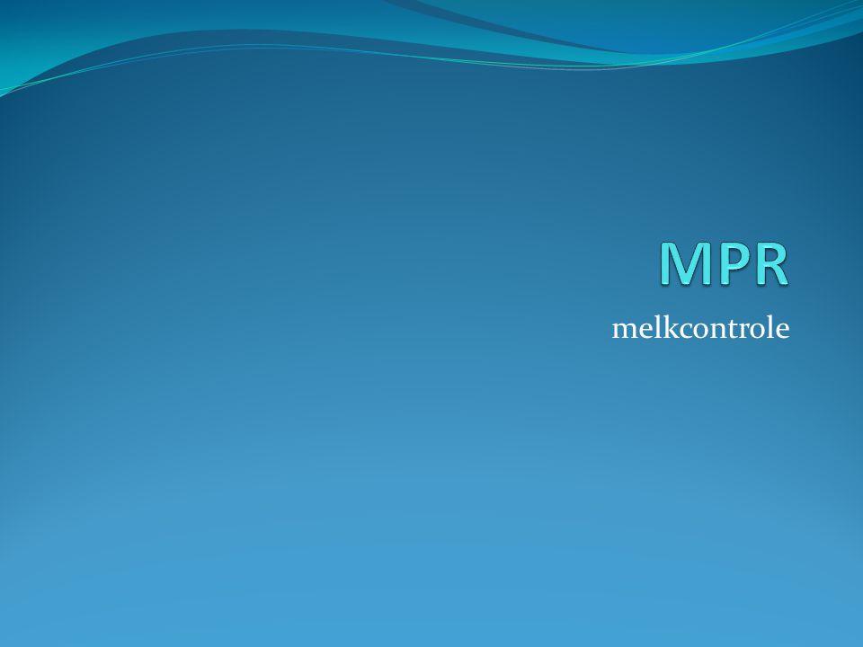 MPR melkcontrole