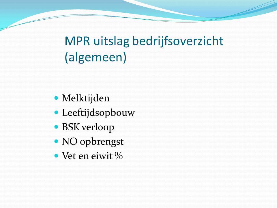 MPR uitslag bedrijfsoverzicht (algemeen)