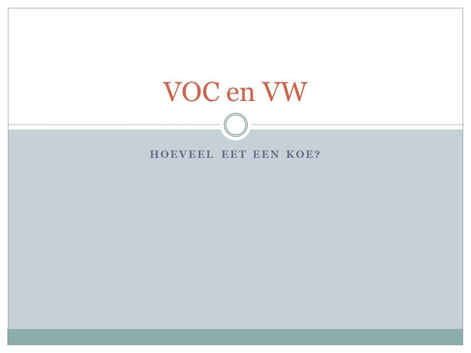 VOC en VW Hoeveel eet een koe