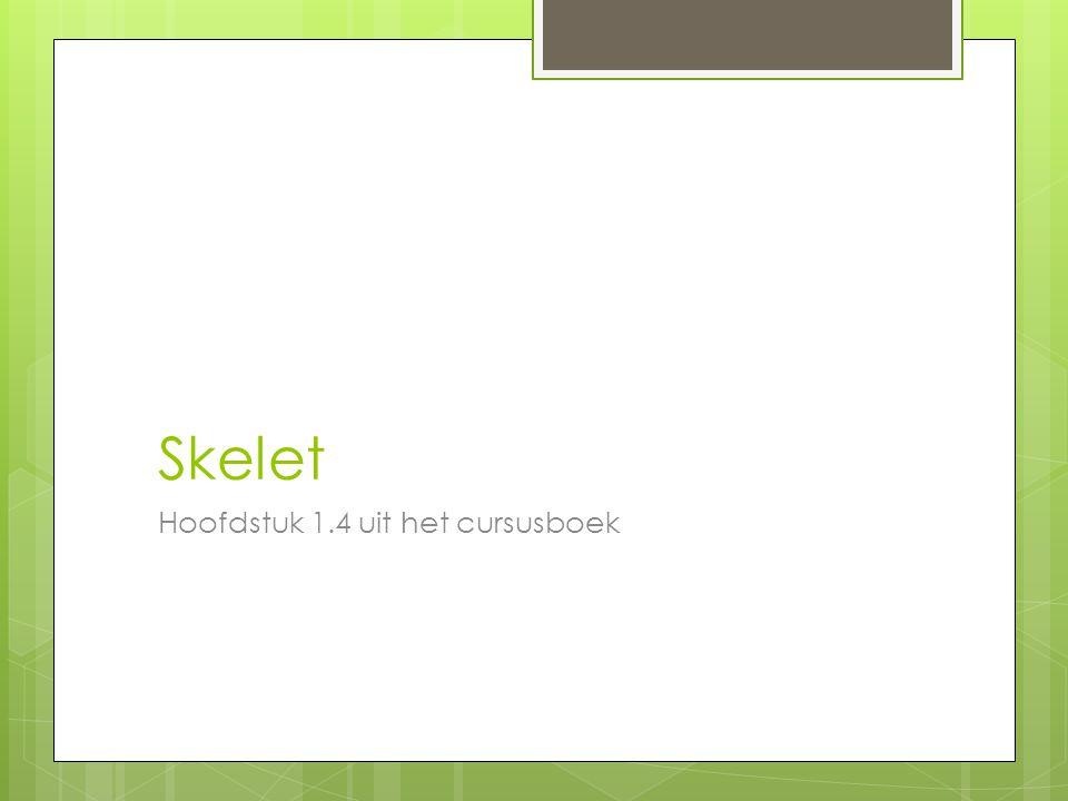 Skelet Hoofdstuk 1.4 uit het cursusboek