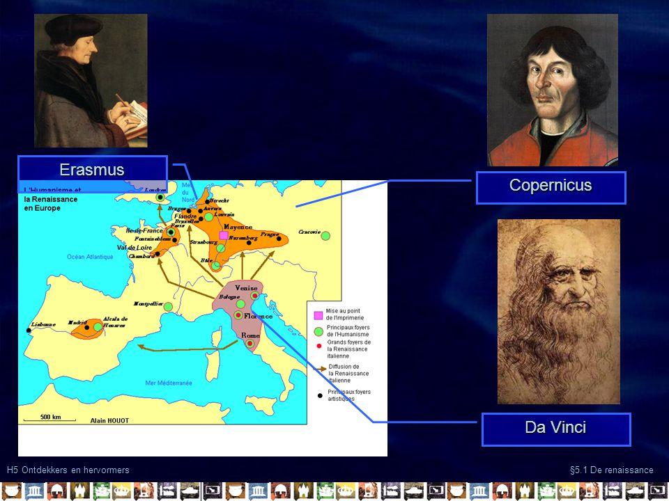 Erasmus Copernicus Da Vinci H5 Ontdekkers en hervormers