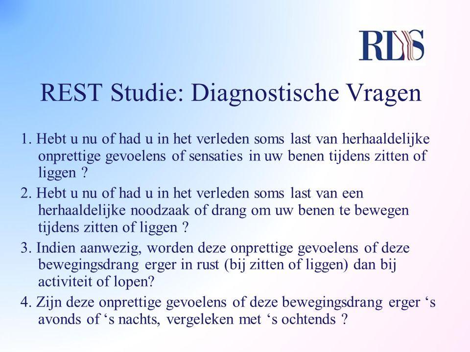 REST Studie: Diagnostische Vragen