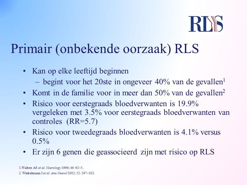 Primair (onbekende oorzaak) RLS