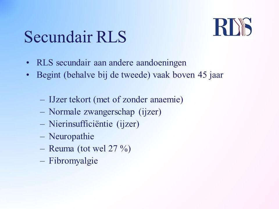 Secundair RLS RLS secundair aan andere aandoeningen
