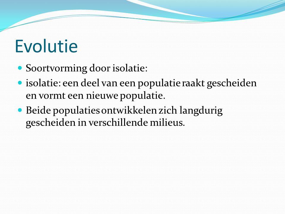 Evolutie Soortvorming door isolatie:
