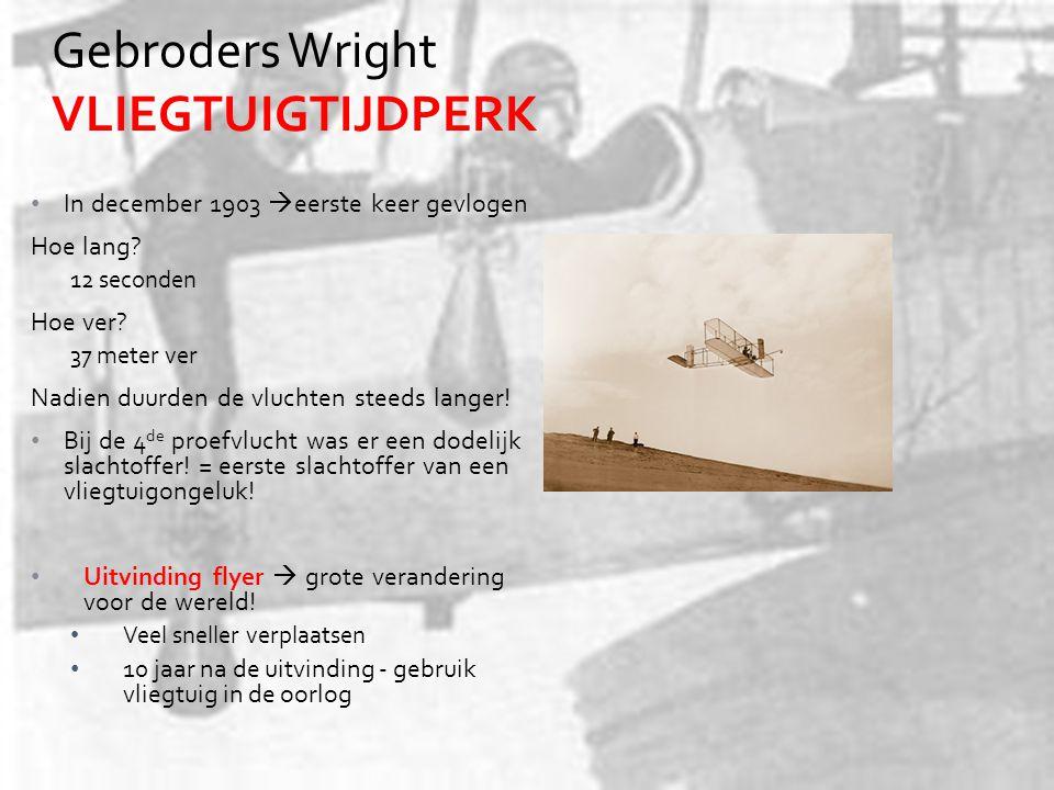 Gebroders Wright VLIEGTUIGTIJDPERK