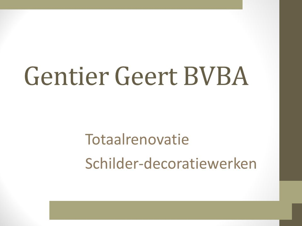Totaalrenovatie Schilder-decoratiewerken