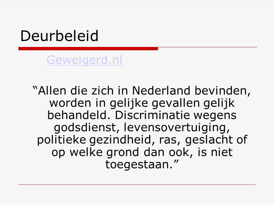 Deurbeleid Geweigerd.nl