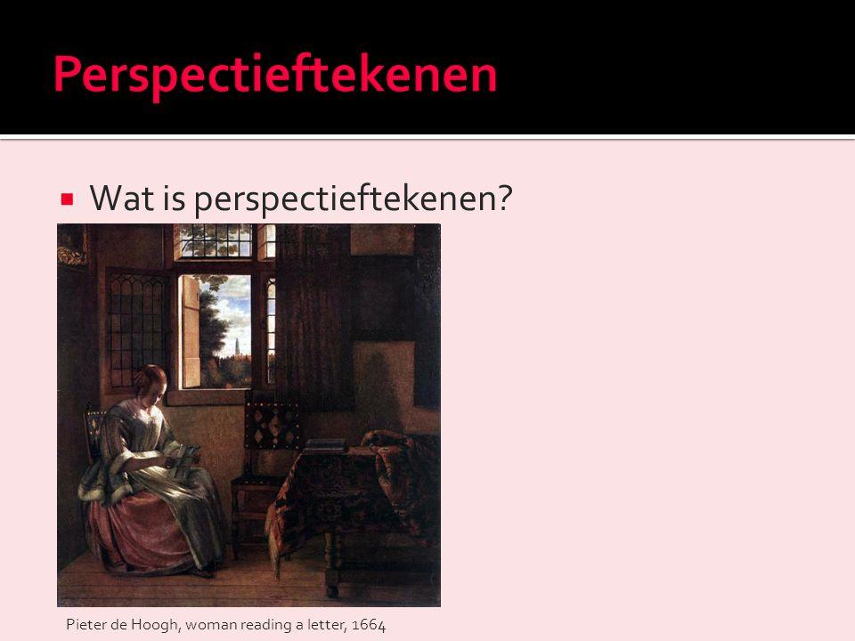 Perspectieftekenen Wat is perspectieftekenen