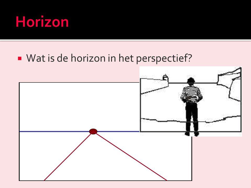 Horizon Wat is de horizon in het perspectief