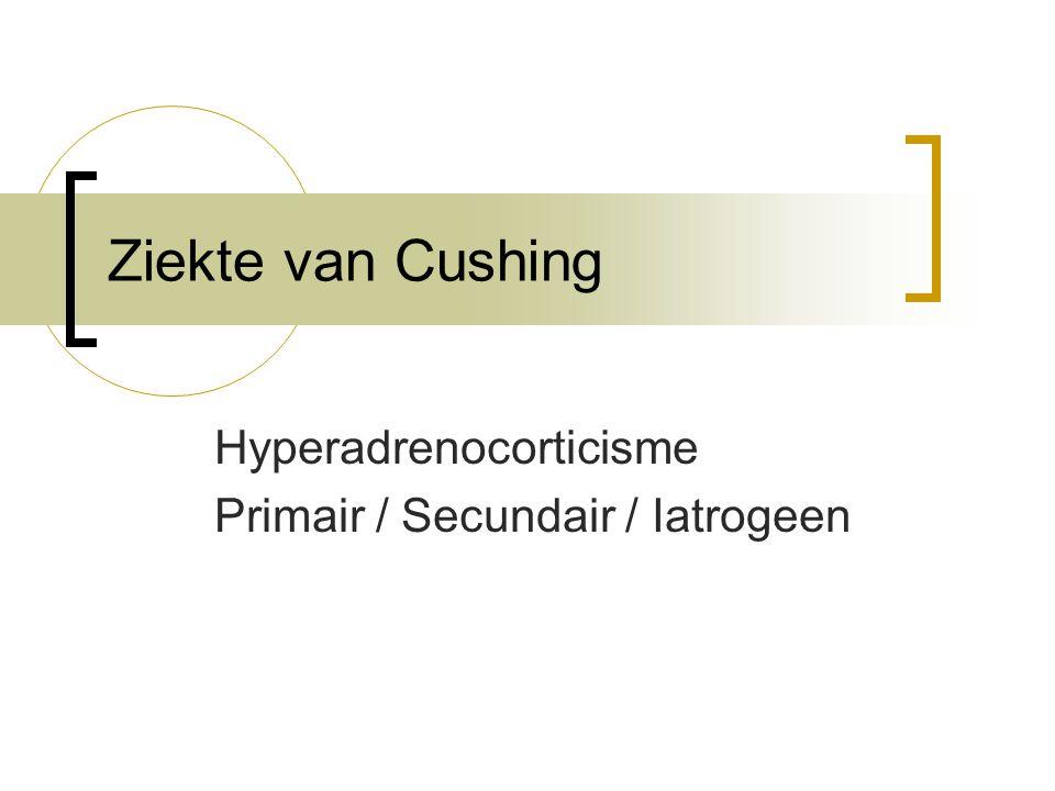 Hyperadrenocorticisme Primair / Secundair / Iatrogeen