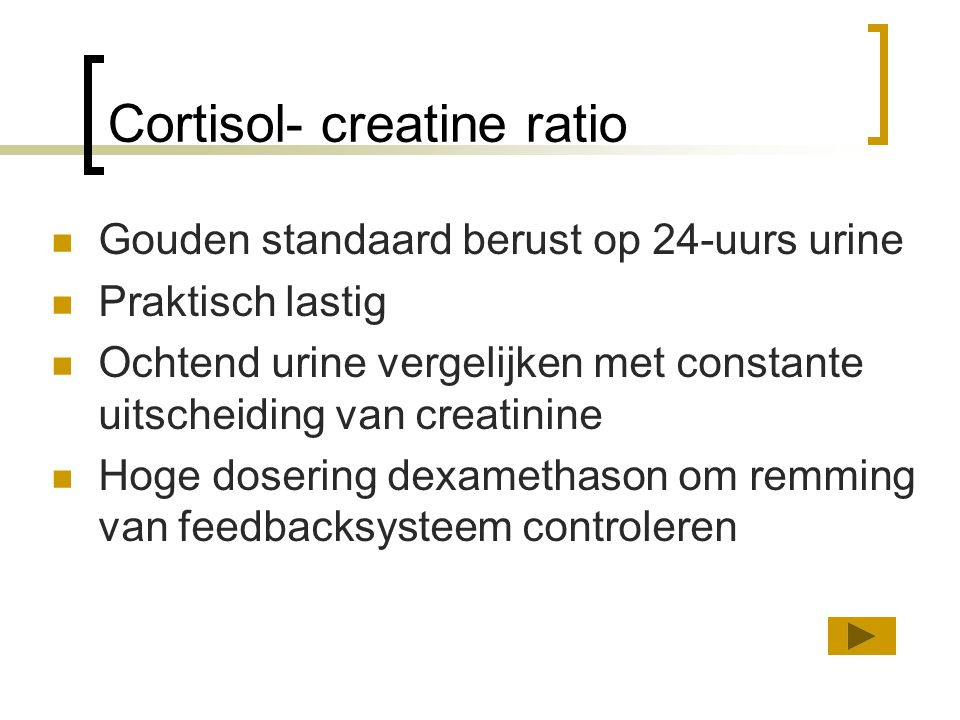 Cortisol- creatine ratio
