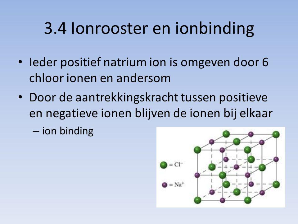 3.4 Ionrooster en ionbinding