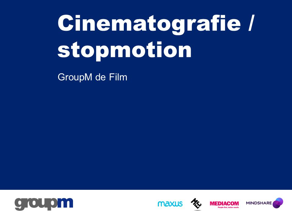 Cinematografie / stopmotion