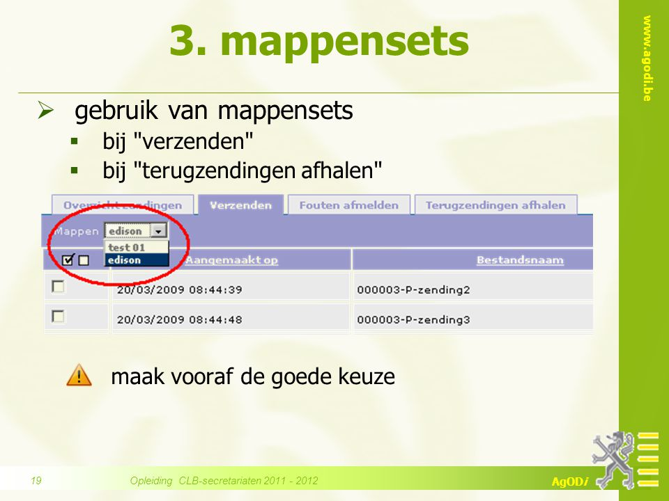 Opleiding CLB-secretariaten 2011 - 2012