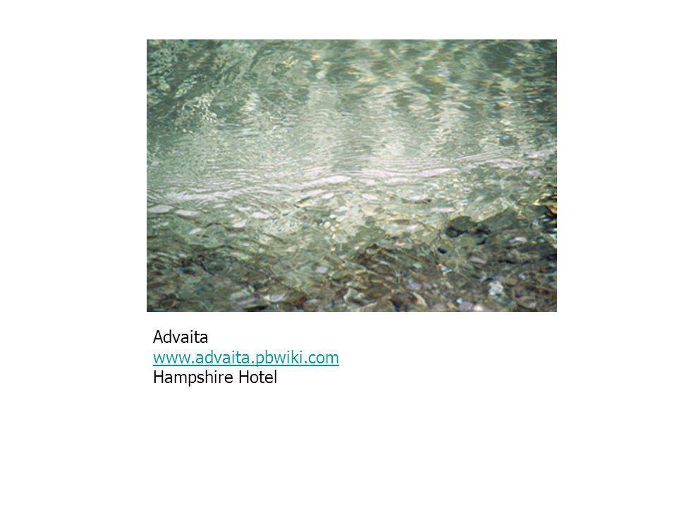 Advaita www.advaita.pbwiki.com Hampshire Hotel