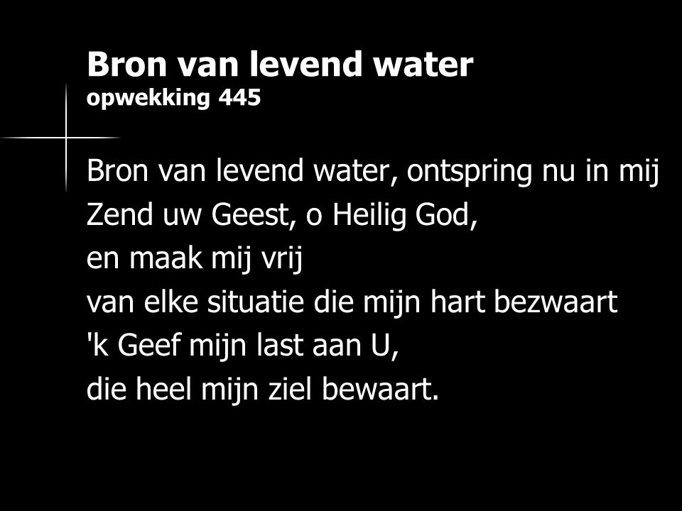 Bron van levend water opwekking 445