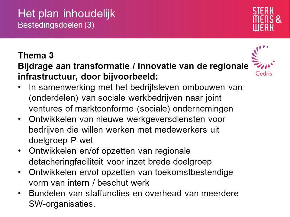 Het plan inhoudelijk Bestedingsdoelen (3)