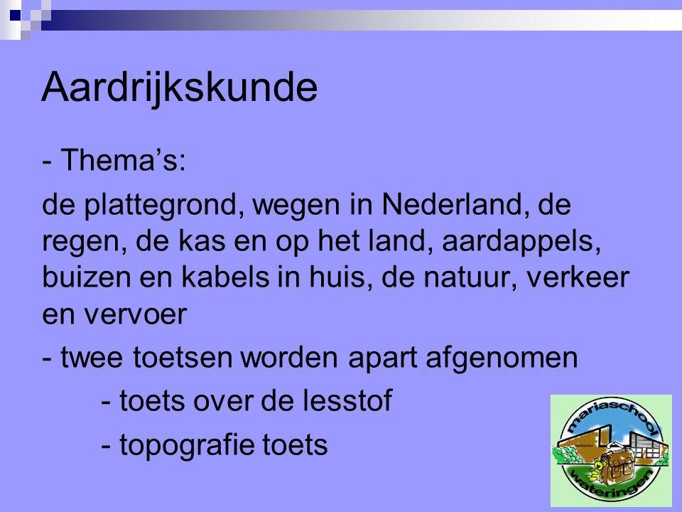 Aardrijkskunde - Thema's: