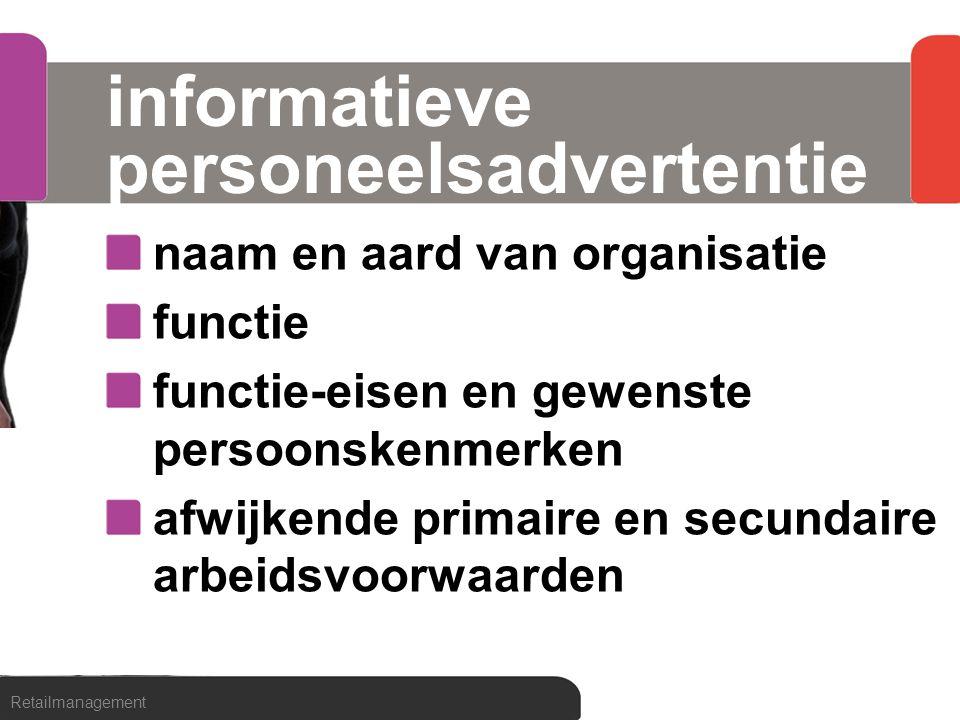 informatieve personeelsadvertentie