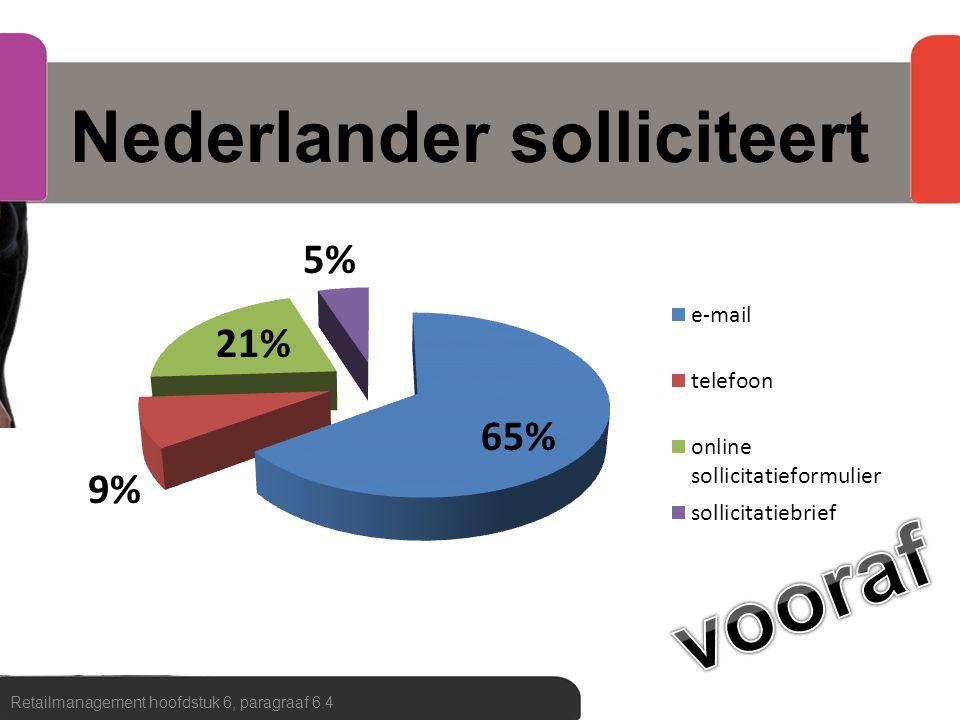 Nederlander solliciteert