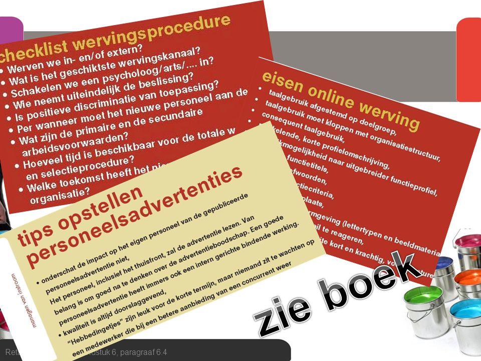 zie boek tenslotte checklist wervingsprocedure