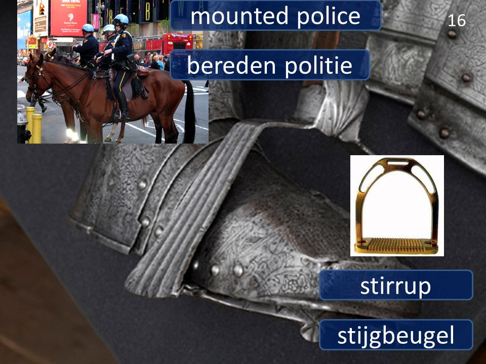mounted police bereden politie stirrup stijgbeugel