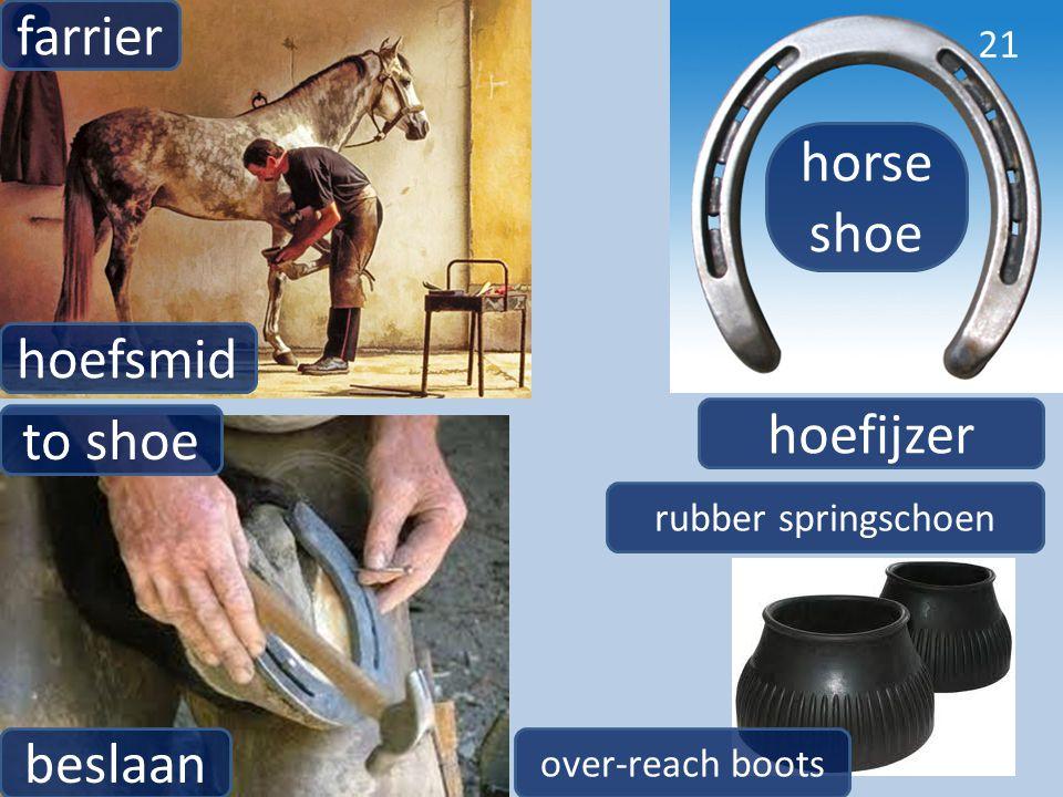 farrier horse shoe hoefsmid hoefijzer to shoe beslaan