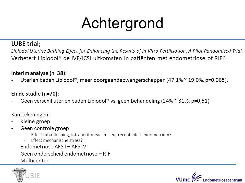 Achtergrond LUBE trial;