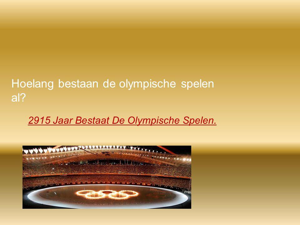 Hoelang bestaan de olympische spelen al