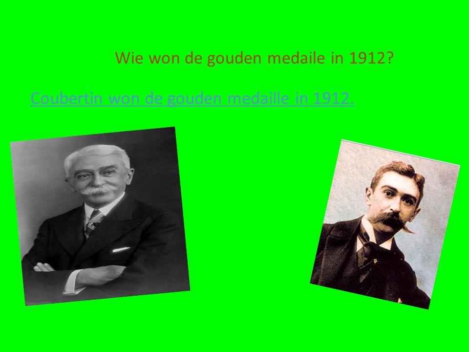 Wie won de gouden medaile in 1912