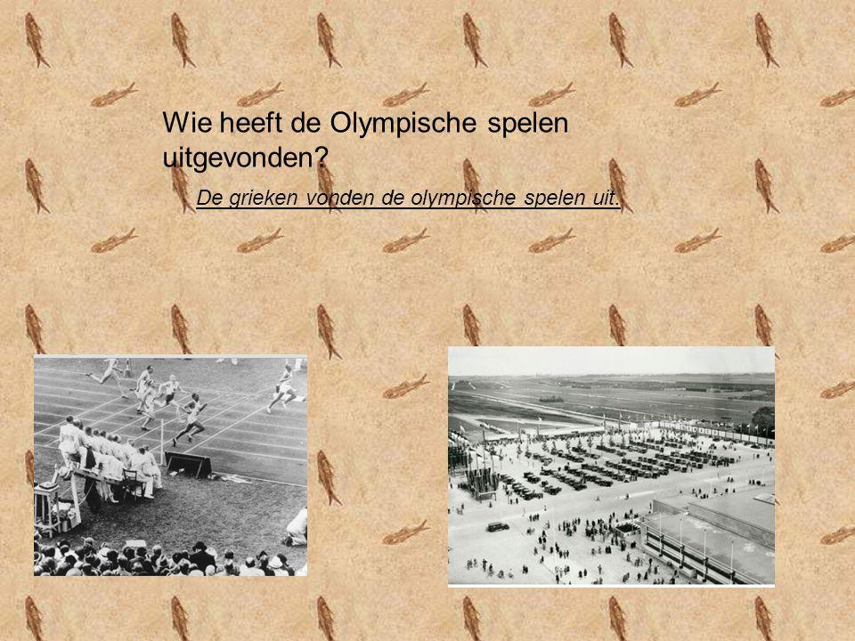 Wie heeft de Olympische spelen uitgevonden