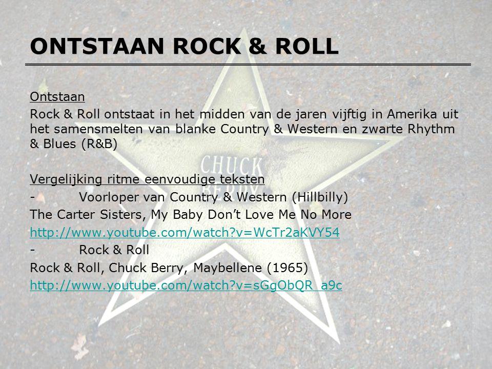 ONTSTAAN ROCK & ROLL Ontstaan